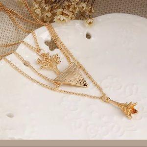 Jewelry - Multi- layer Gold Choker Necklace